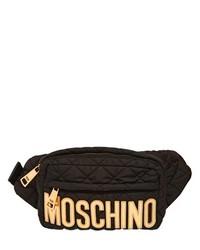Riñonera de nylon negra de Moschino