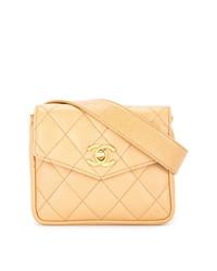 Riñonera marrón claro de Chanel Vintage