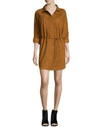 Robe chemise en daim brune claire Rag & Bone