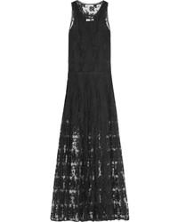 Robe de soirée en dentelle noire Chloé