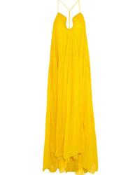 Robe de soirée moutarde Chloé