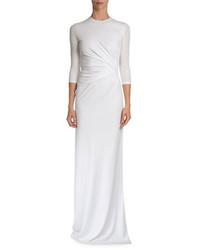 Robe de soirée plissée blanche Givenchy