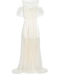 Robe de soirée plissée blanche Sophia Kokosalaki