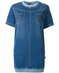 Robe décontractée en denim bleue Love Moschino