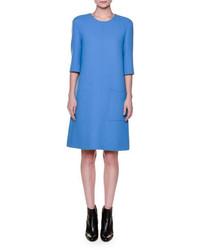 Robe droite bleue Marni