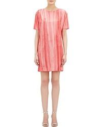 Robe droite en soie rose Marni