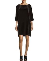 Robe droite en velours noire Eileen Fisher