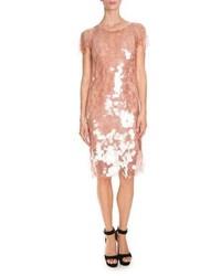 Robe droite pailletée rose Givenchy