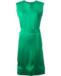 Robe droite verte Lanvin