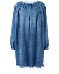Robe en denim bleue Chloé
