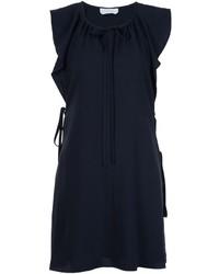 Robe en soie bleue marine Chloé