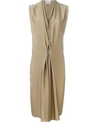 Robe en soie brune claire Lanvin