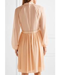 Robe en soie brune claire Chloé