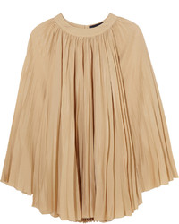 Robe en soie brune claire Vanessa Seward