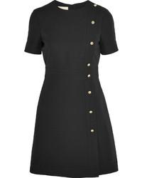 Robe en soie ornée noire Gucci