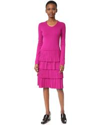 Robe en tricot violette Salvatore Ferragamo
