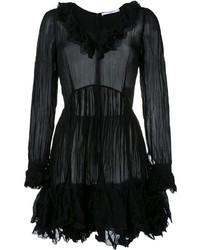 Robe évasée à volants noire Givenchy