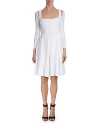 Robe évasée blanche Givenchy
