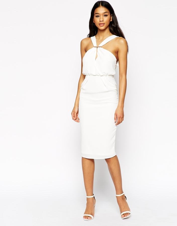 Asos robe blanche fourreau