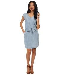 Robe fourreau en denim bleue claire Calvin Klein Jeans