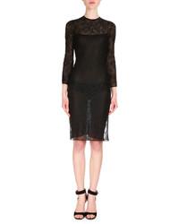 Robe fourreau en dentelle noire Givenchy