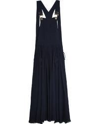 Robe longue bleue marine Chloé