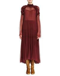 Robe longue bordeaux Chloé