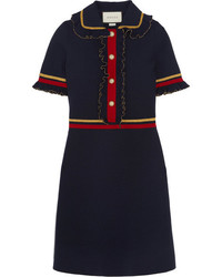Robe ornée bleue marine Gucci