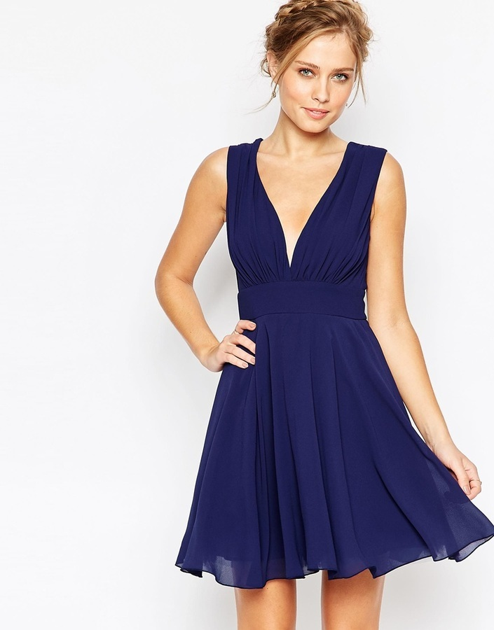 Robe de cocktail patineuse
