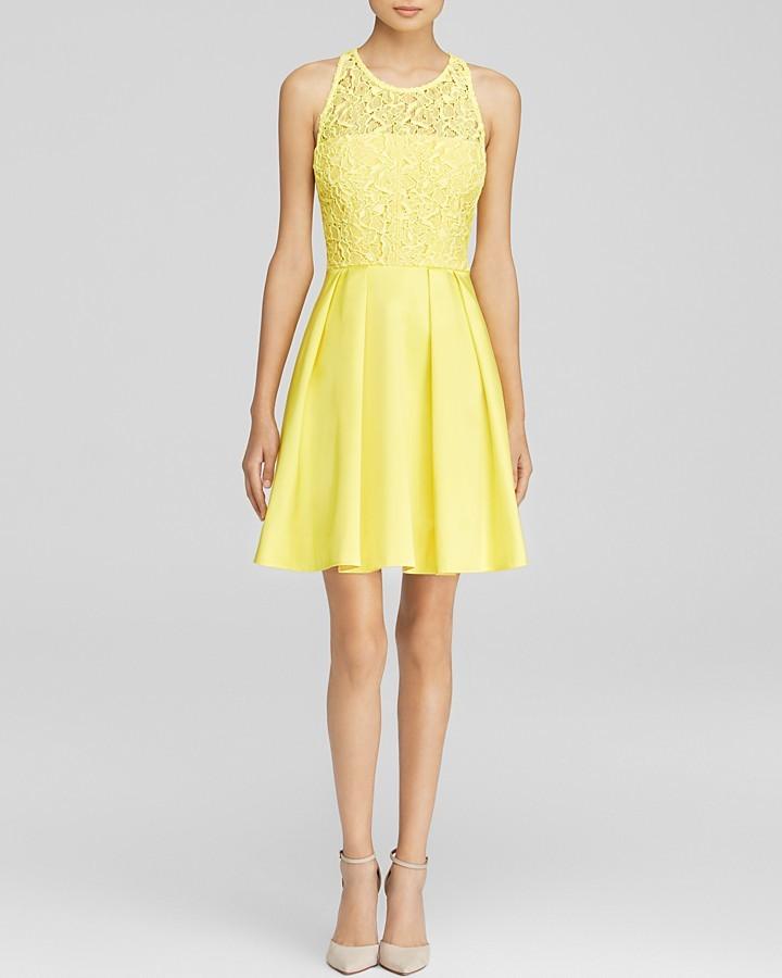 Achat robe jaune