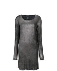 Robe-pull argentée