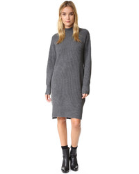 Robe-pull grise DKNY