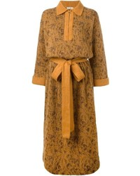Robe-pull moutarde