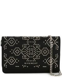 Sac bandoulière en cuir à clous noir Givenchy