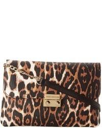 Sac bandoulière en cuir imprimé léopard brun Juicy Couture