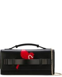 Sac bandoulière en cuir imprimé noir RED Valentino