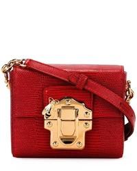Sac bandoulière en cuir rouge Dolce & Gabbana
