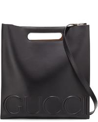 Sac fourre-tout en cuir noir Gucci