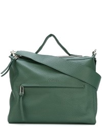 Sac fourre-tout en cuir olive Orciani