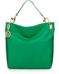 Sac fourre-tout en cuir vert Love Moschino