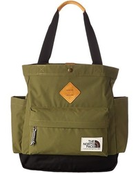 Sac fourre-tout en toile olive The North Face