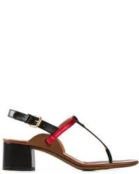 Sandales à talons en cuir rouges et noires L'Autre Chose