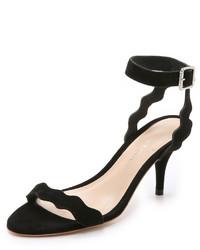 Sandales à talons en daim noires Loeffler Randall