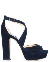 Sandales bleues marine Jimmy Choo