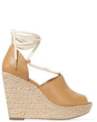 Sandales compensées brunes claires MICHAEL Michael Kors