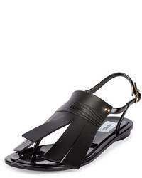 Sandales en caoutchouc noires Kenzo