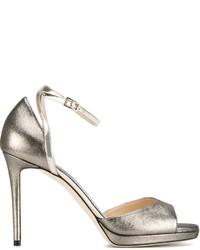 Sandales en cuir argentées Jimmy Choo