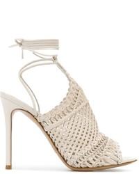 Sandales en cuir blanches Gianvito Rossi