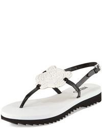 Sandales en cuir blanches Kenzo