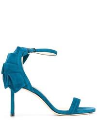 Sandales en cuir bleues canard Jimmy Choo